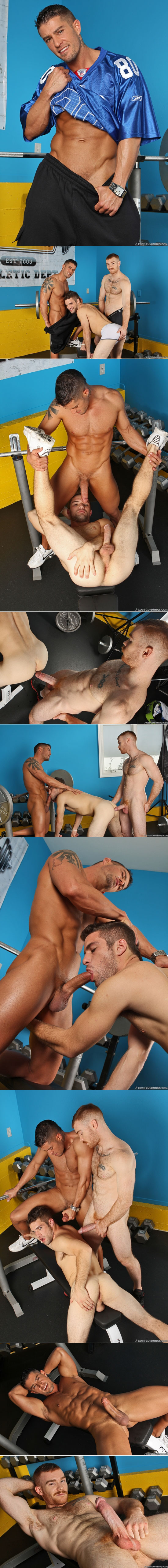 Threesome with Cody Cummings, Adam Wirthmore and James Jamesson