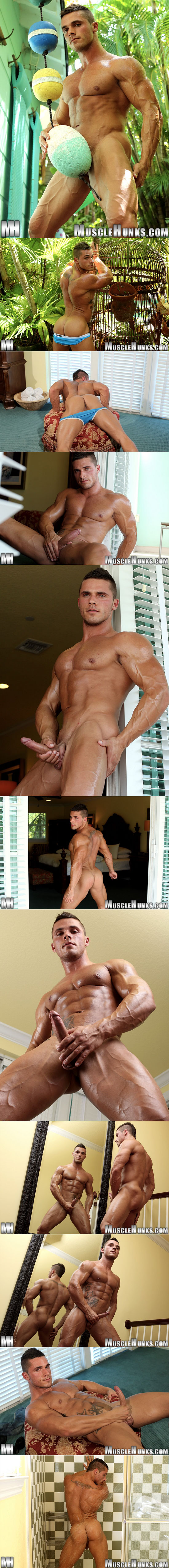 Joey van Damme jerks off for Muscle Hunks