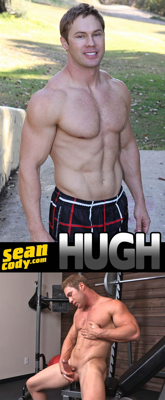 Muscle hunk Hugh jerks off for Sean Cody