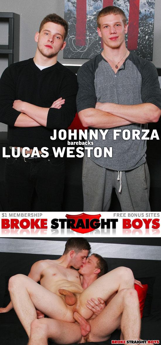 Johnny Forza barebacks Lucas Weston