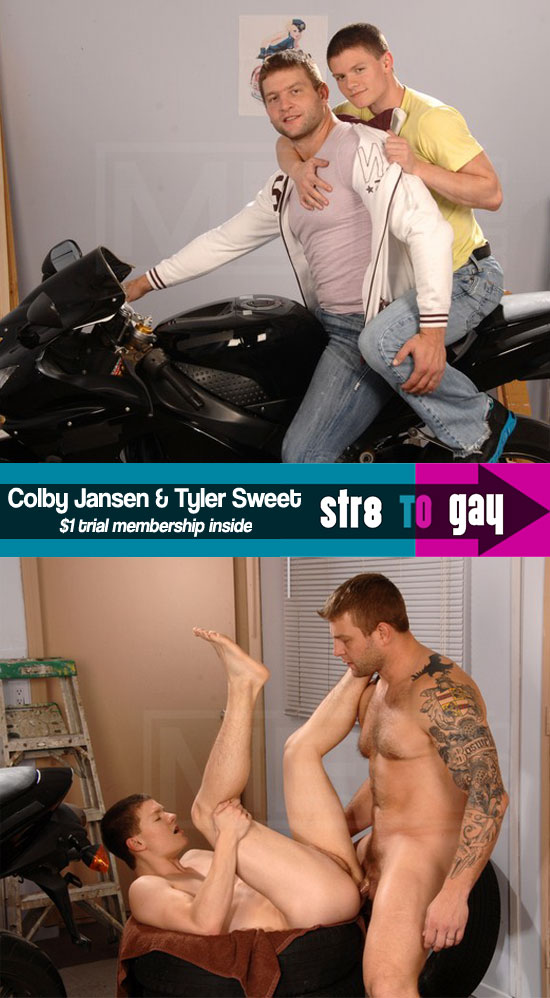 Tyler Sweet gets fucked by Colby Jansen