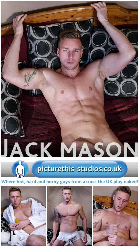 Jack Mason strokes his big uncut cock