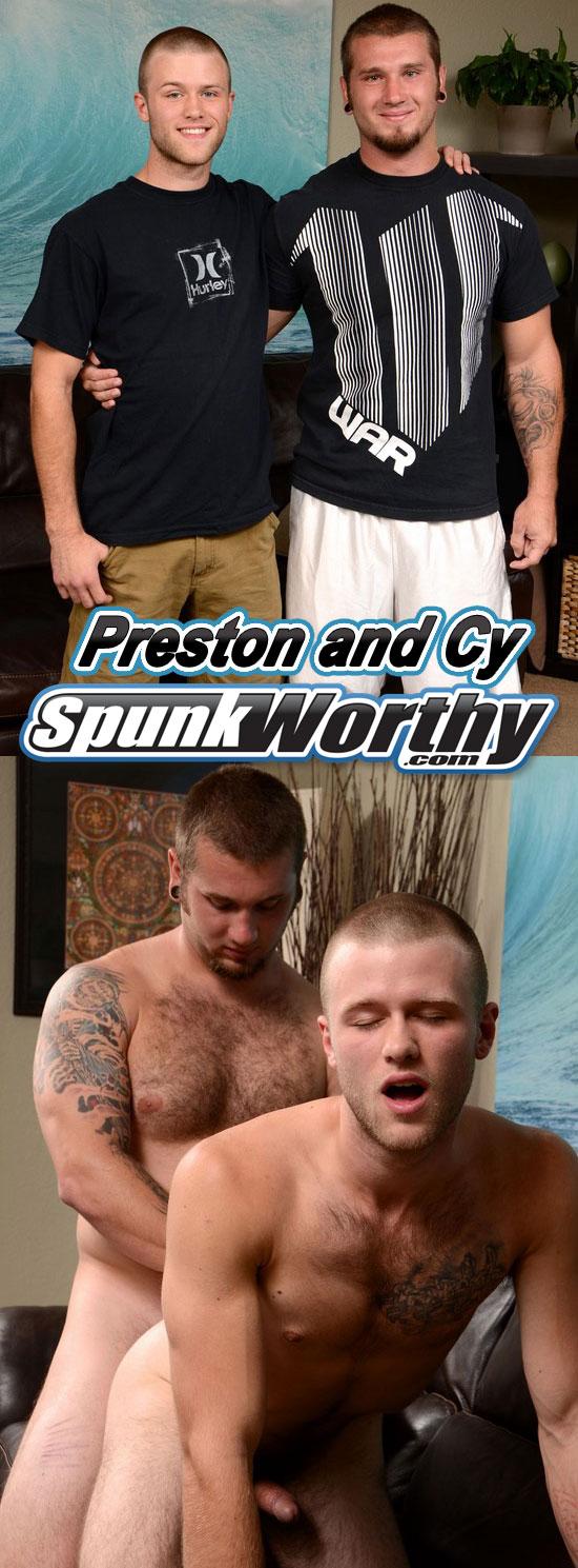 Preston fucks Cy at Spunk Worthy