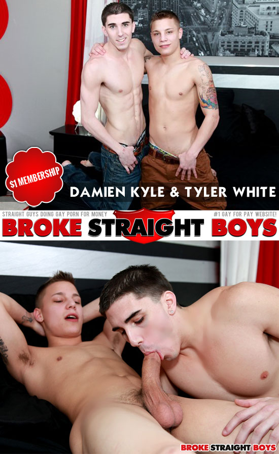 Damien Kyle and Tyler White swap blowjobs